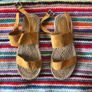 Yellow Strap Espadrilles Sandals